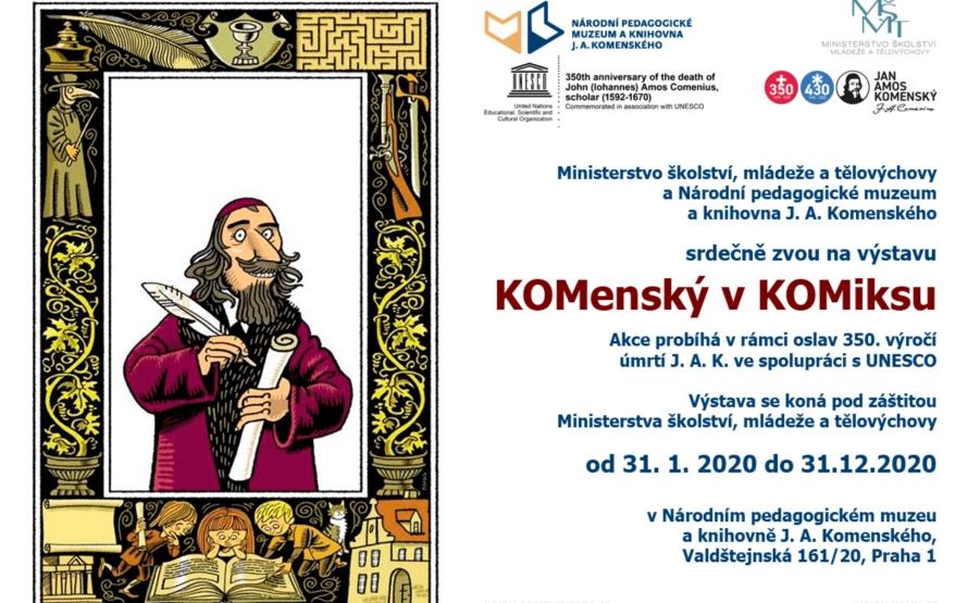 Jan Amos Komenský je hvězdou komiksu